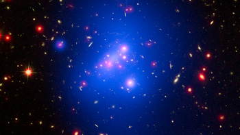 Cluster of young galaxies. NASA Photo