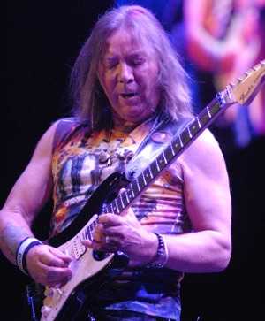 Dave Murray, guitarist for Iron Maiden performs Friday night at the BOK Center Friday night in Tulsa