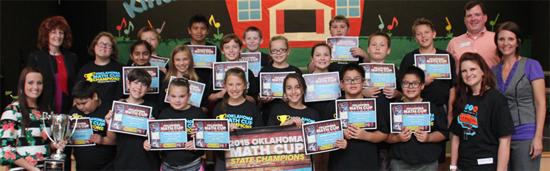 Heritage School's 2015 winning math group
