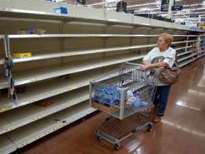 Venezuelan food shortages - photo: www.ecuadortimes.net
