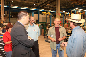 Tulsa County Commissioner John Smaligo, District 1 meets with American Maintenance workers.