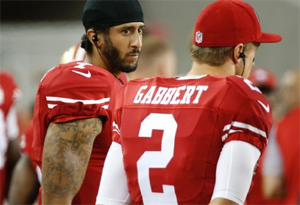 Quarterbacks Colin Kaepernick and Blaine Gabbert