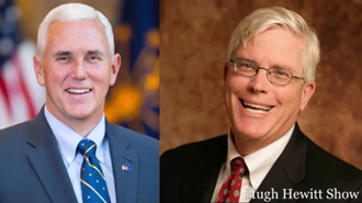 GOP Vice President Nominee and host Hugh Hewitt