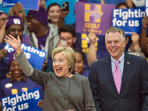 Hillary Clinton and Terry McAuliffe