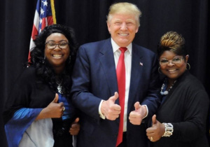 Diamond and Silk with Donald Trump
